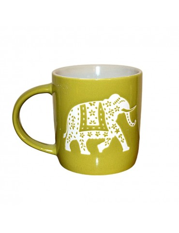 Tasse Madu Verte - Motif Elephant